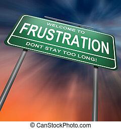 concept., frustración