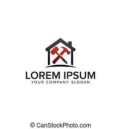 concept, gabarit, constructeur, construction, conception, entretien, logo.