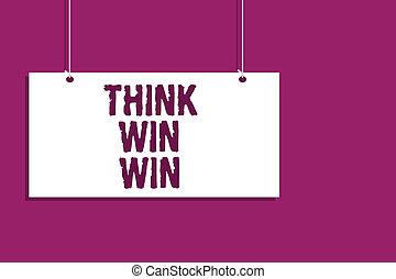 concept, gagner, communication, concurrence, signe, pendre, fin, message, stratégie, ouvert, pourpre, écriture, arrière-plan., win., planche, manière, texte, être, business, signification, reussite, défi, écriture, penser