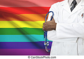 concept, gay, bisexuel, national, healthcare, -, système,...