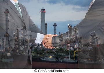 concept., gaz, nafta, współpraca, porozumienie, handlowy
