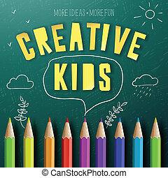 concept, geitjes, opleiding, creatief