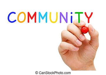 concept, gemeenschap