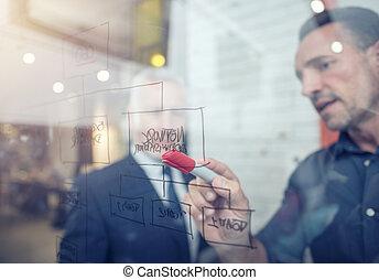 concept, gens, travail, collaboration, association, reussite, ensemble., business