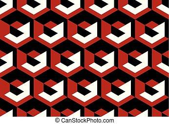concept geometry vector illustration with hexagon geometric...