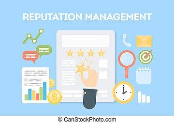 concept., gestion, réputation