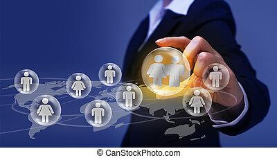 concept, gestion réseau, social
