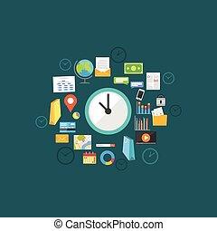 concept., gestion, temps