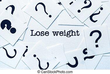 concept, gewicht, verliezen