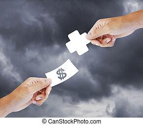 concept, gezondheid, aankoop, verzekering