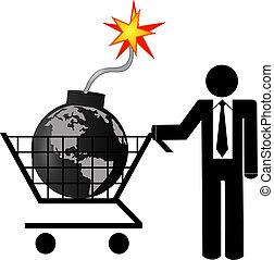 concept, global, destruction