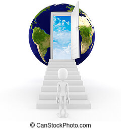 concept, global, man;, business, 3d