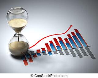 concept., graph., affär, timglas