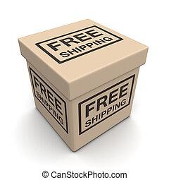 concept, gratuite, expédition, ecommerces