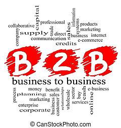 concept, gribouiller, b2b, business
