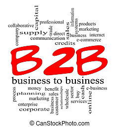 concept, gribouiller, b2b, business, rouges