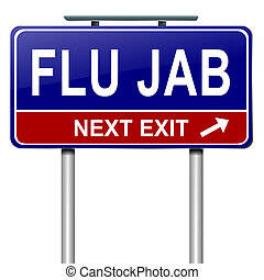 concept., grippe, alerte
