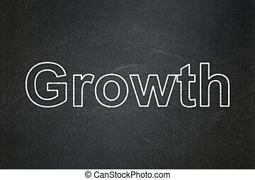 concept:, groei, achtergrond, chalkboard, zakelijk