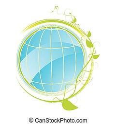 concept, groene, pictogram