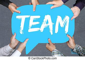 concept, groep, zakelijk, werkende mensen , samen, teamwork, vasthouden, team