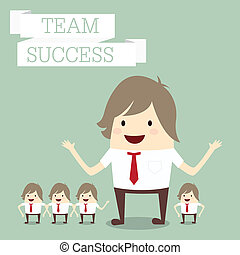 "concept, groupe, business, ""team"", mots, homme affaires, ""success"""