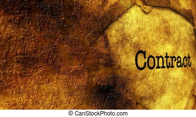 concept, grunge, contrat