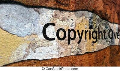 concept, grunge, droit d'auteur