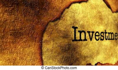 concept, grunge, investissement