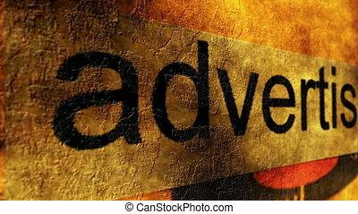 concept, grunge, publicité