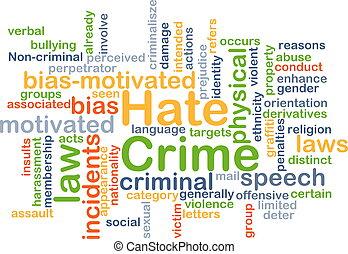 concept, haat, achtergrond, misdaad