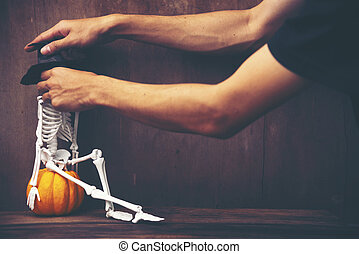 concept, halloween, monture