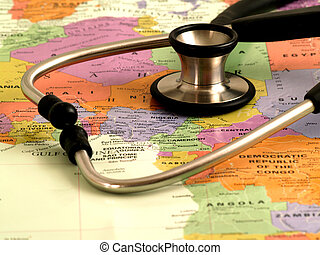 Concept - health care in Africa