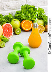Concept healthy eating diet plan detox drinks sports nutrition ideas