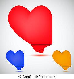 Concept heart bubble speech. Vector illustration. Best choice