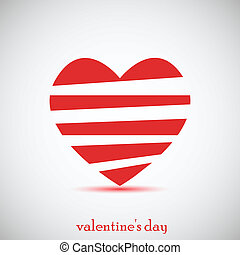 Concept heart for Valentines day. Vector illustration