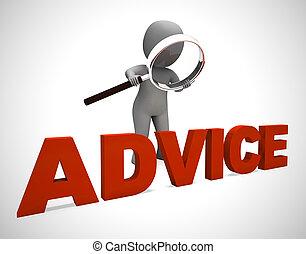 concept, het tonen, helpen, trucs, -, illustratie, leiding, tips, pictogram, raad, 3d