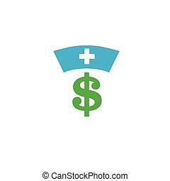 concept, het tonen, kosten, kosten, gezondheid, gezondheidszorg, duur, care