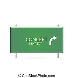 Concept Highway Sign