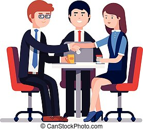 concept, hommes affaires, reussite, activité