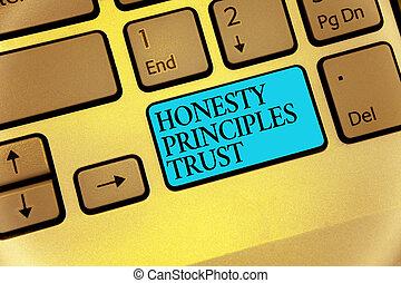 concept, honnêteté, calculer, texte, principes, clavier ordinateur, bleu, granted, écriture, intention, croire, quelqu'un, business, clã©, dire, mot, reflet, trust., vérité, mots, créer, document.