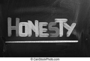 concept, honnêteté