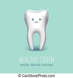 concept, humain, affiche, dentaire, vecteur, santé, tooth., monde médical, 3d