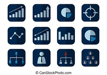 Concept icon chart business on background