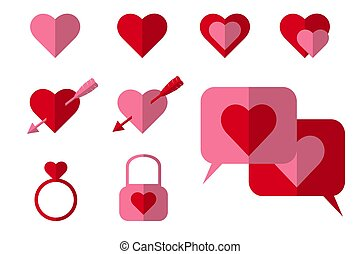 Concept icon love valentine day on background