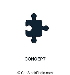 Concept icon. Monochrome style design from business icon collection. UI. Pixel perfect simple pictogram concept icon. Web design, apps, software, print usage.