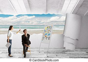 concept, idée,  Business, créatif
