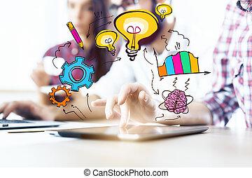 concept, idée, créatif