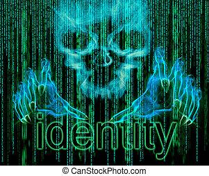 concept, identiteit diefstal