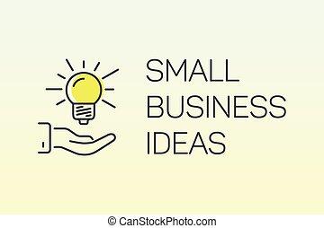 concept, illustration affaires, idée, vecteur, petit, ligne, bannière