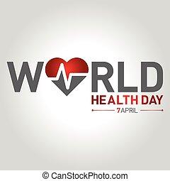 concept, illustration, avril, vecteur, santé, 7, mondiale, ...